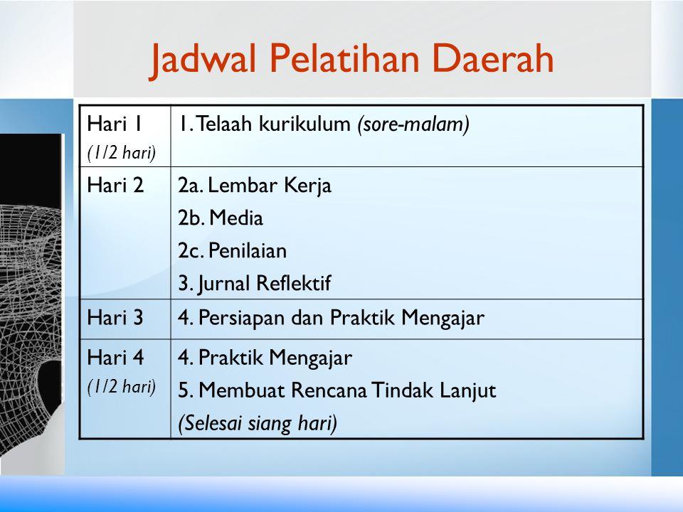 Jadwal Pelatihan Daerah