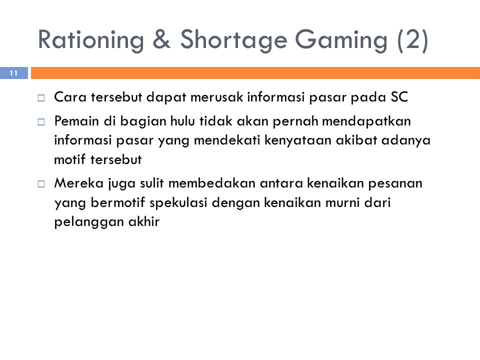 Rationing & Shortage Gaming (2)