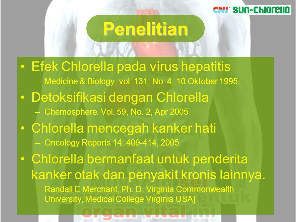 Penelitian Efek Chlorella pada virus hepatitis