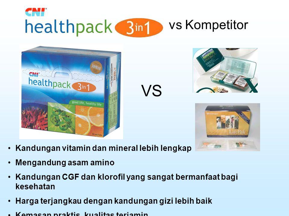 VS vs Kompetitor Kandungan vitamin dan mineral lebih lengkap