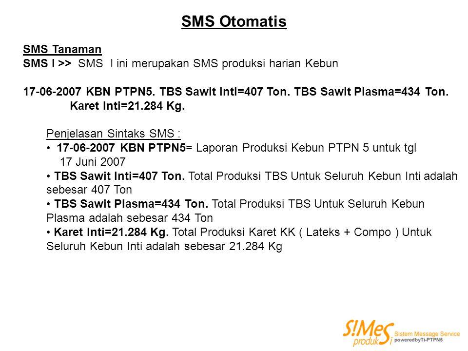 SMS Otomatis SMS Tanaman