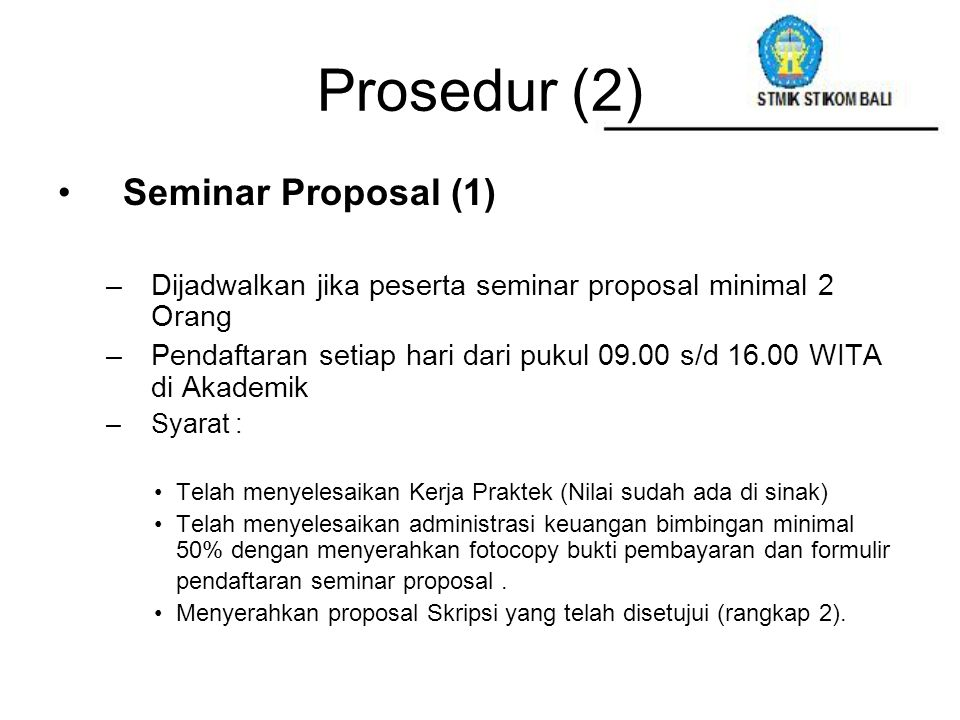 Prosedur (2) Seminar Proposal (1)