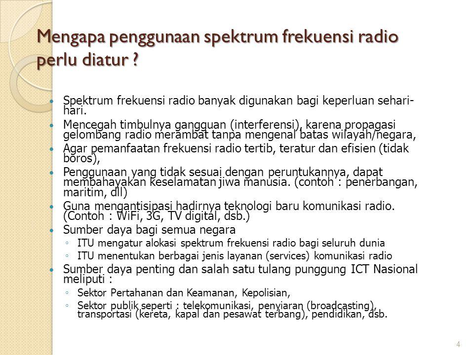 Mengapa penggunaan spektrum frekuensi radio perlu diatur