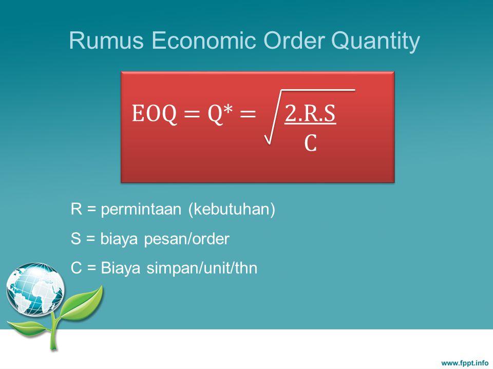 Rumus Economic Order Quantity