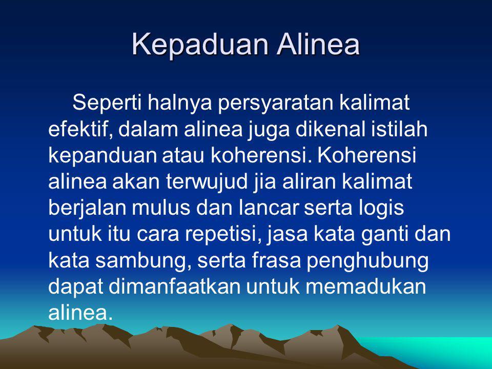 Kepaduan Alinea