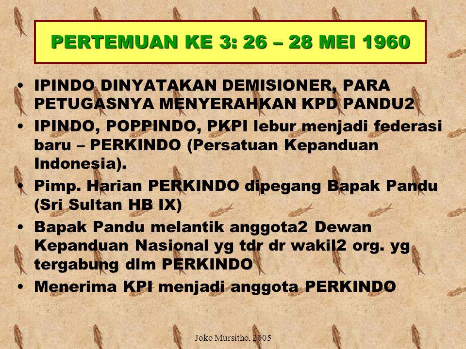 PERTEMUAN KE 3: 26 – 28 MEI 1960 IPINDO DINYATAKAN DEMISIONER, PARA PETUGASNYA MENYERAHKAN KPD PANDU2.