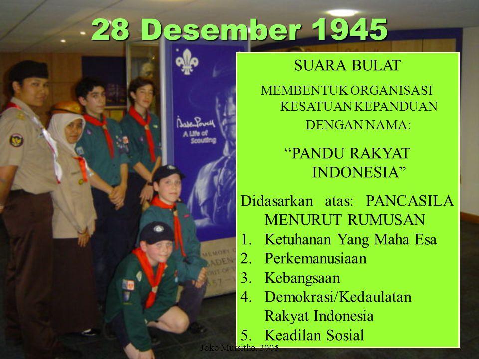 28 Desember 1945 SUARA BULAT PANDU RAKYAT INDONESIA