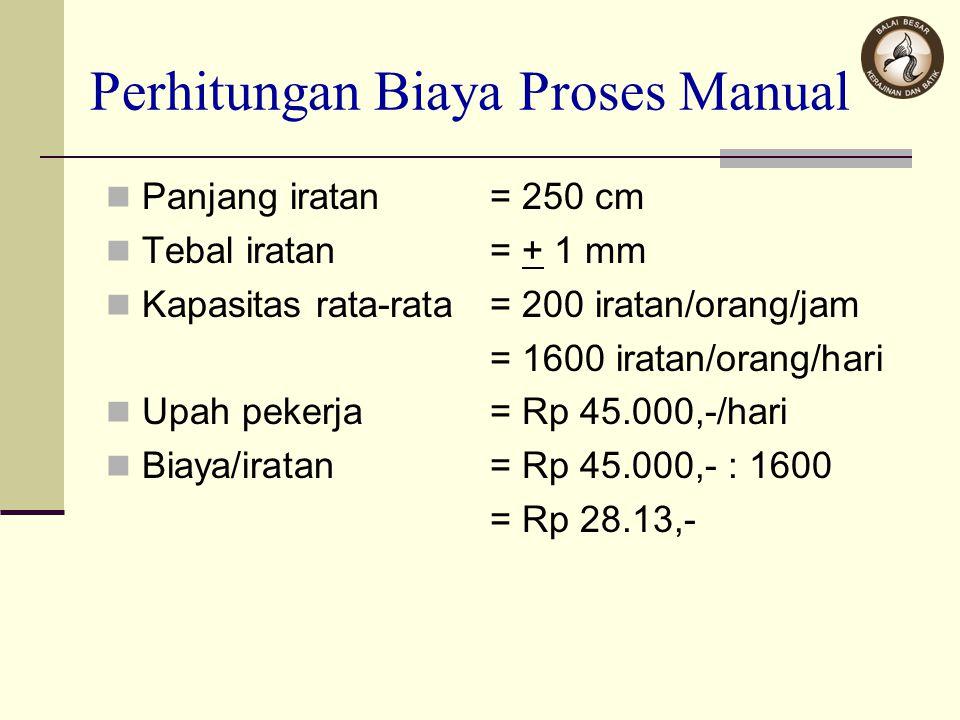 Perhitungan Biaya Proses Manual