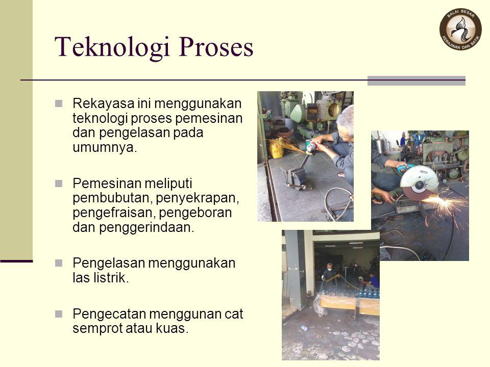Teknologi Proses Rekayasa ini menggunakan teknologi proses pemesinan dan pengelasan pada umumnya.