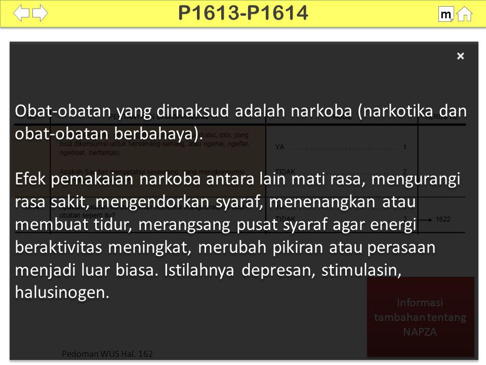 Informasi tambahan tentang NAPZA