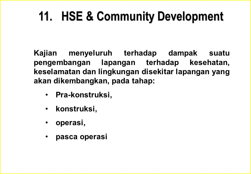 11. HSE & Community Development