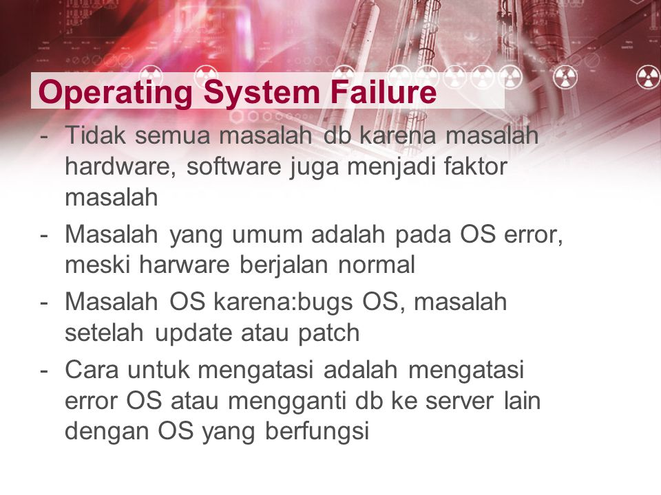 Operating System Failure