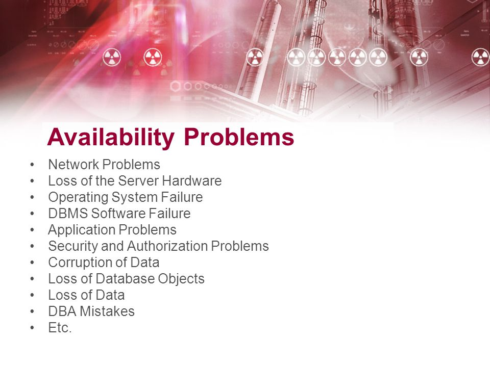 Availability Problems