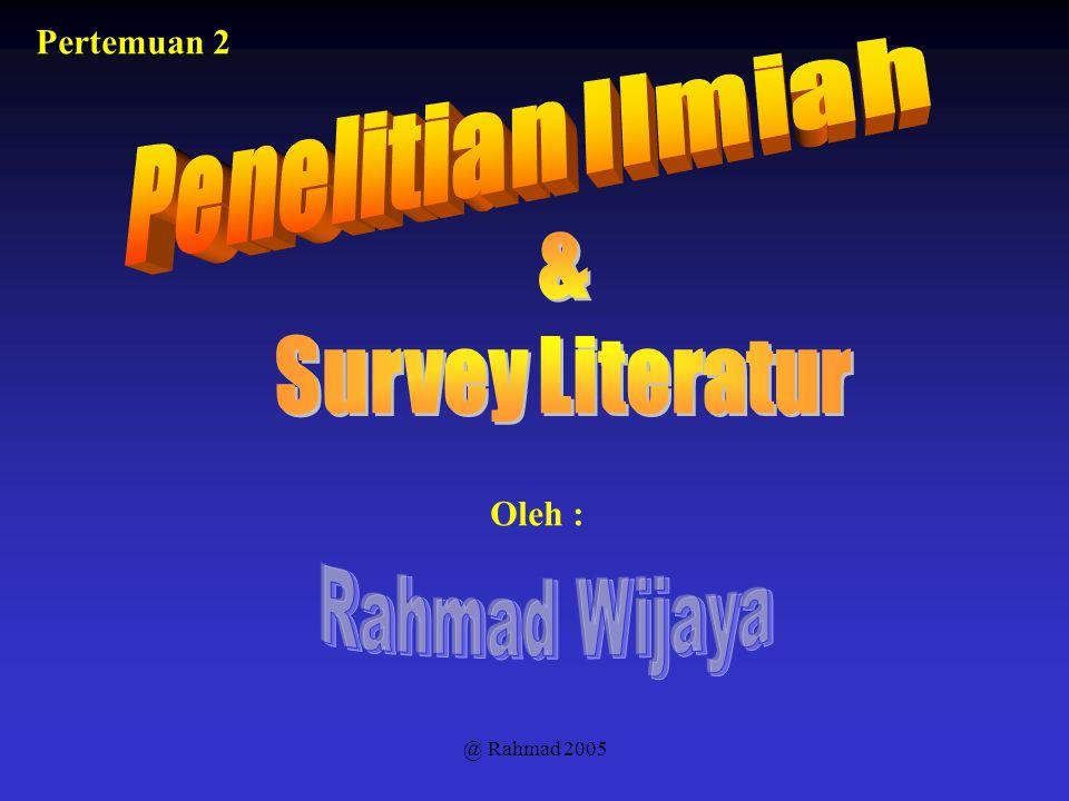 Penelitian Ilmiah & Survey Literatur