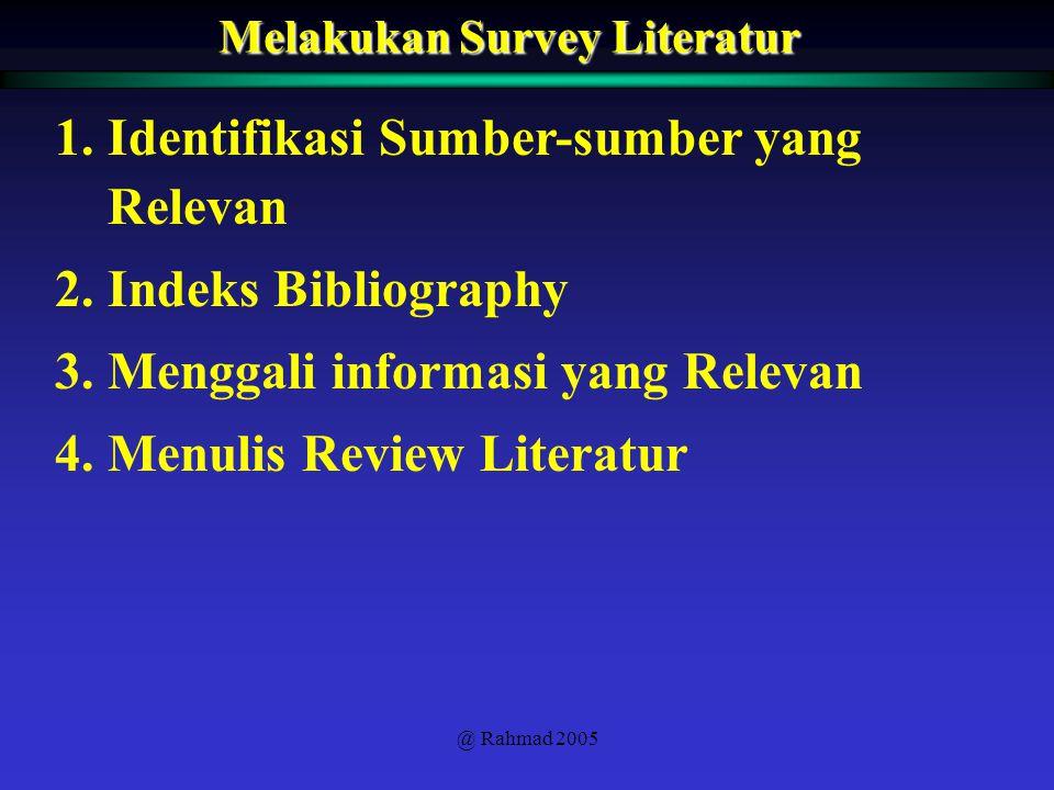 Melakukan Survey Literatur