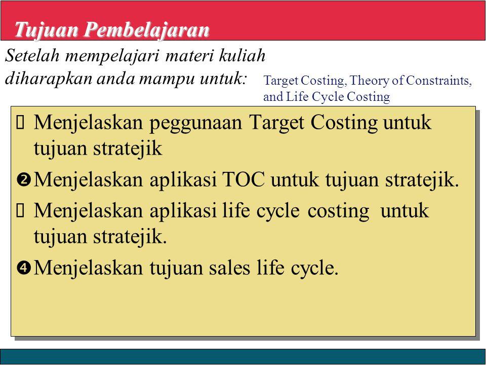 Menjelaskan peggunaan Target Costing untuk tujuan stratejik