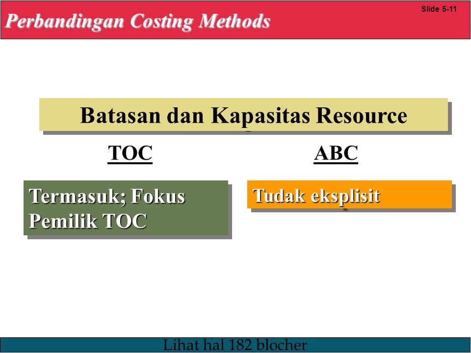 Batasan dan Kapasitas Resource