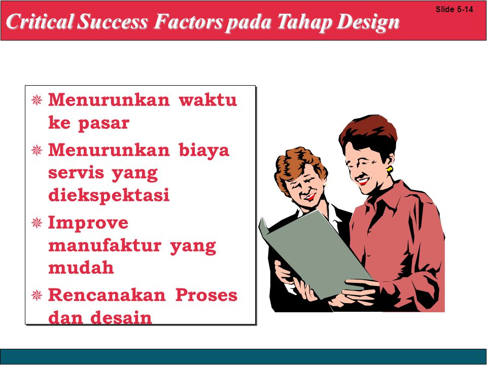 Critical Success Factors pada Tahap Design