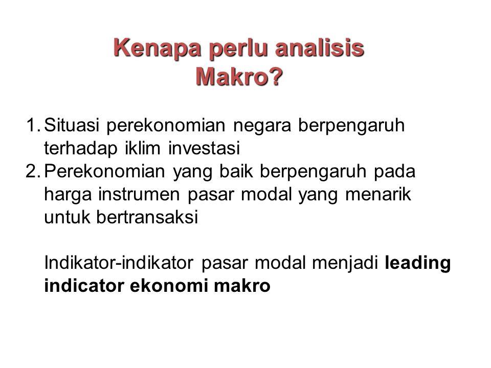 Kenapa perlu analisis Makro