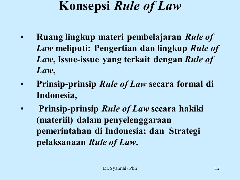 Konsepsi Rule of Law