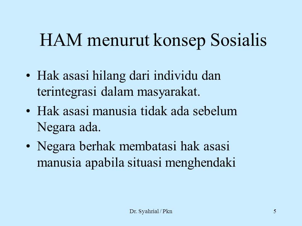 HAM menurut konsep Sosialis