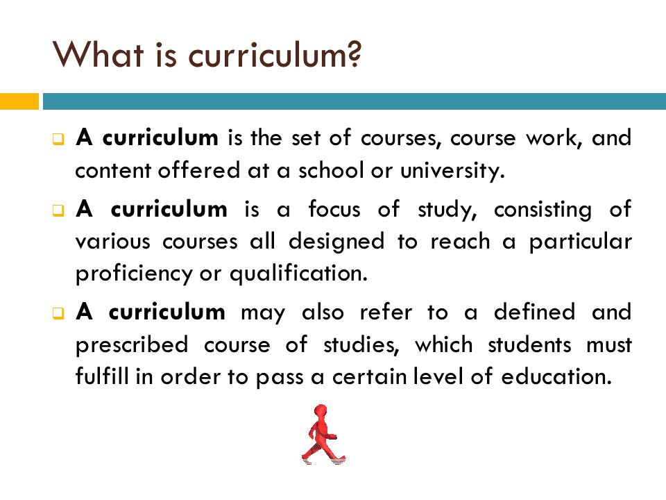 What is curriculum A curriculum is the set of courses, course work, and content offered at a school or university.