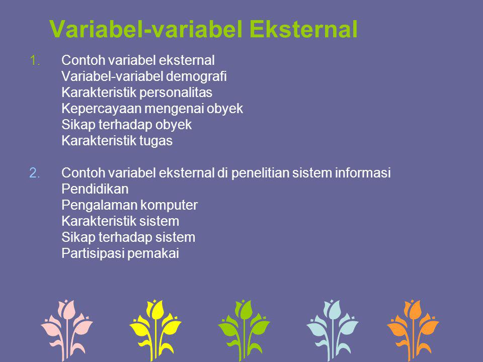Variabel-variabel Eksternal
