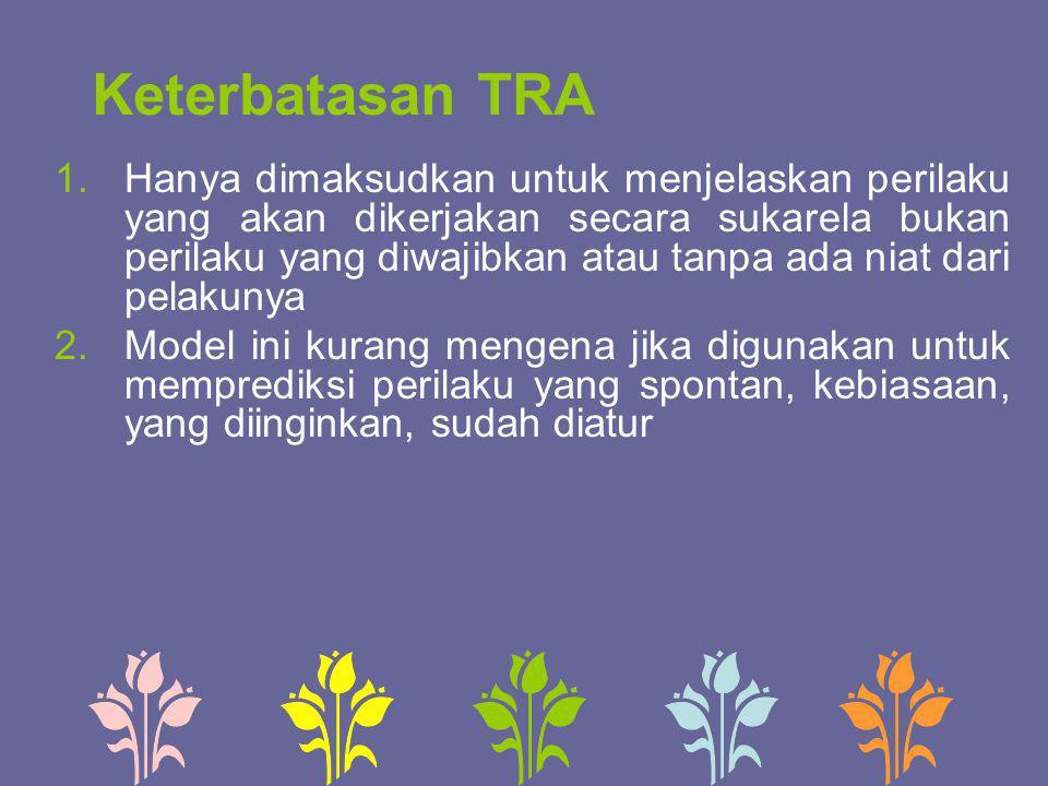 Keterbatasan TRA