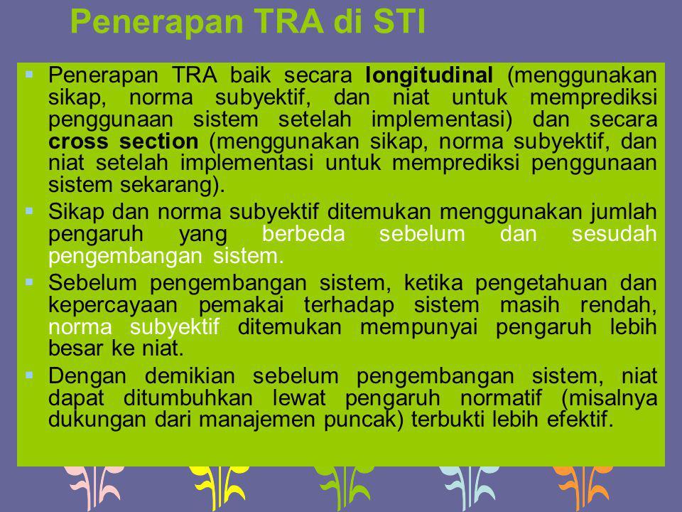 Penerapan TRA di STI