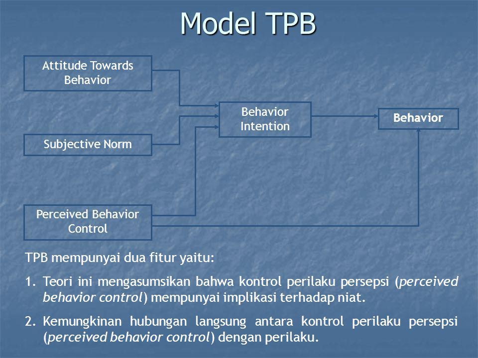 Model TPB TPB mempunyai dua fitur yaitu: