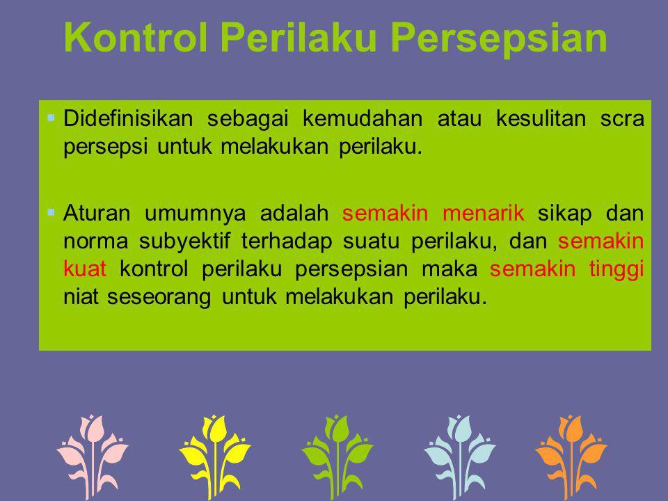 Kontrol Perilaku Persepsian