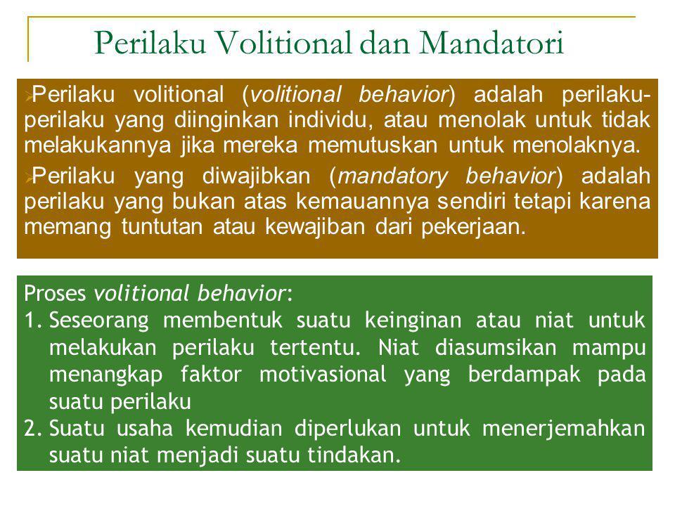 Perilaku Volitional dan Mandatori