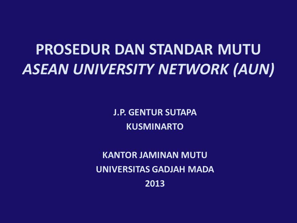 PROSEDUR DAN STANDAR MUTU ASEAN UNIVERSITY NETWORK (AUN)