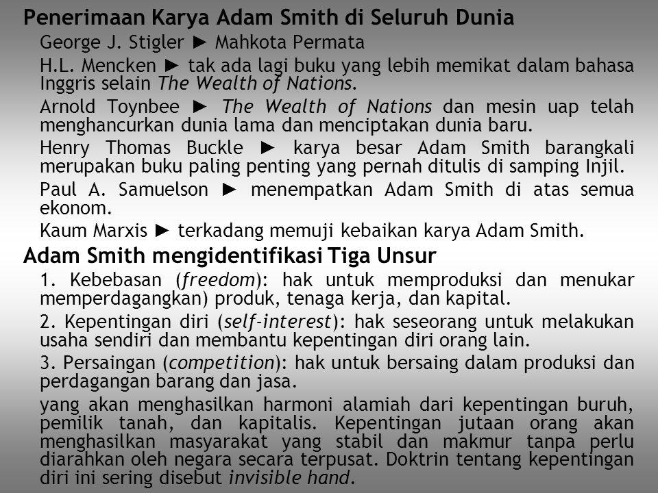 Penerimaan Karya Adam Smith di Seluruh Dunia