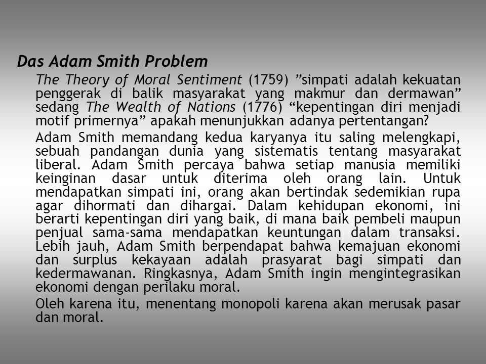 Das Adam Smith Problem