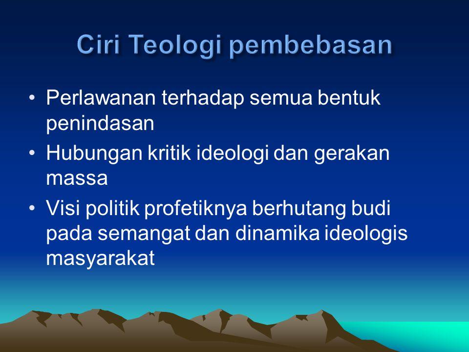 Ciri Teologi pembebasan