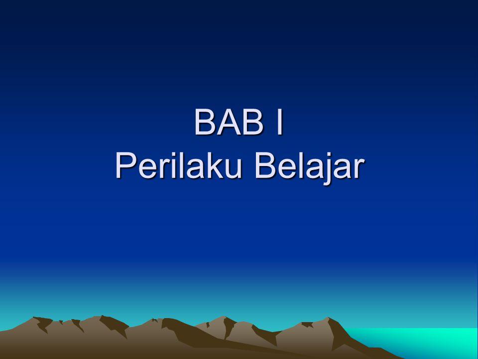 BAB I Perilaku Belajar