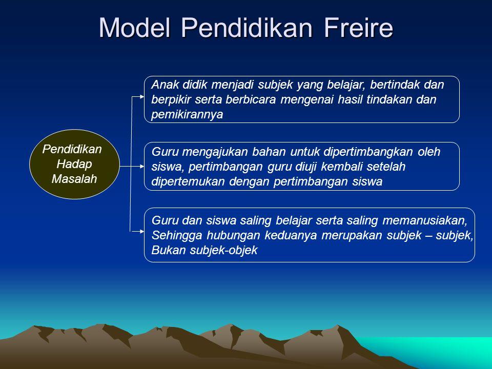 Model Pendidikan Freire
