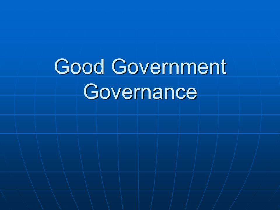 Good Government Governance