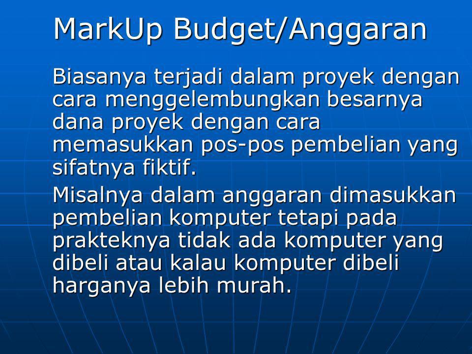 MarkUp Budget/Anggaran