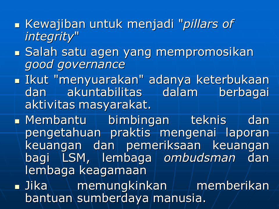 Kewajiban untuk menjadi pillars of integrity
