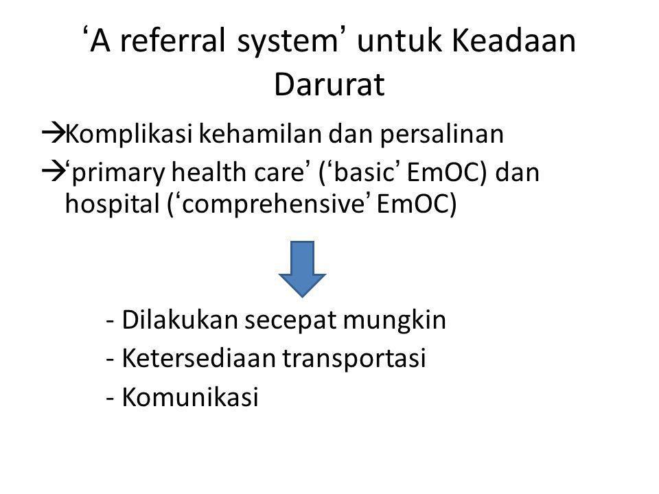 'A referral system' untuk Keadaan Darurat