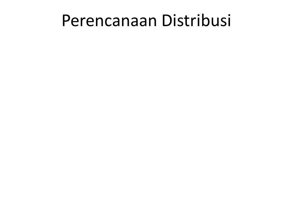 Perencanaan Distribusi