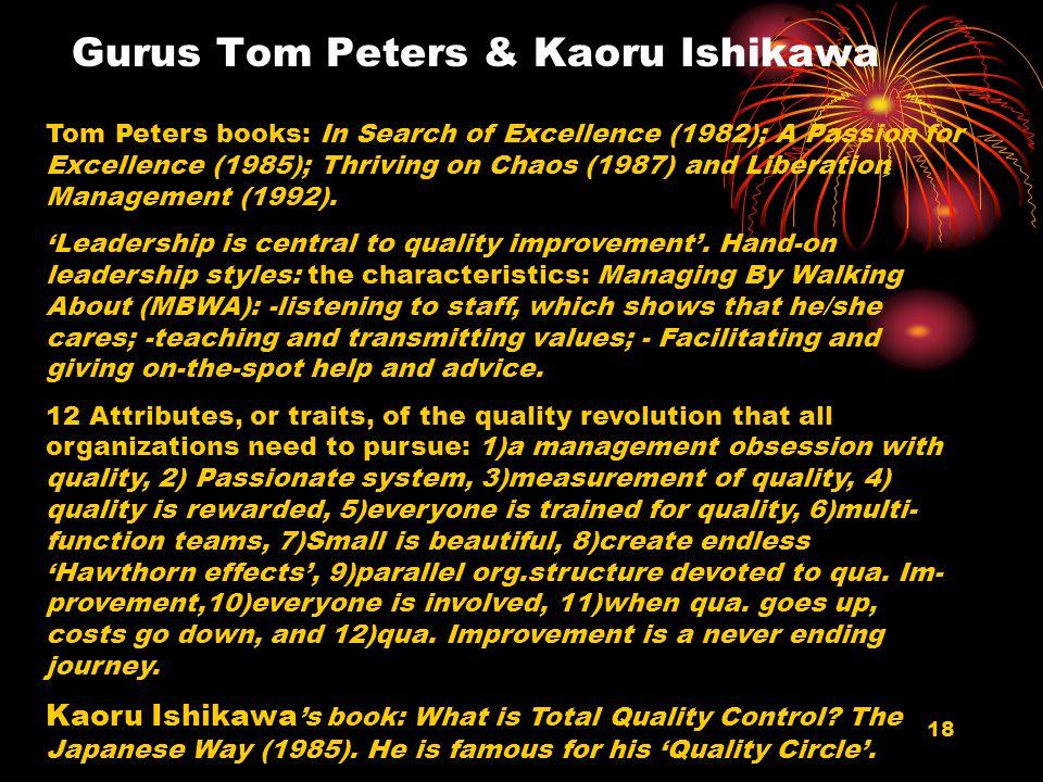 Gurus Tom Peters & Kaoru Ishikawa
