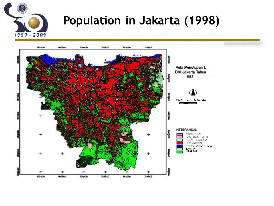 Population in Jakarta (1998)