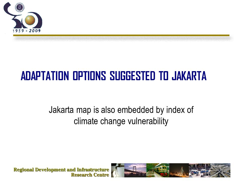 ADAPTATION OPTIONS SUGGESTED TO JAKARTA