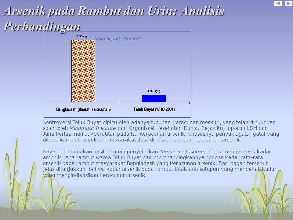 Arsenik pada Rambut dan Urin: Analisis Perbandingan