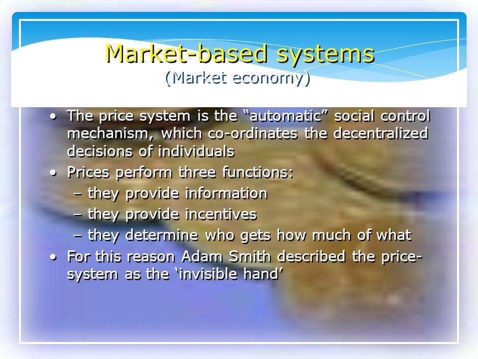 Market-based systems (Market economy)