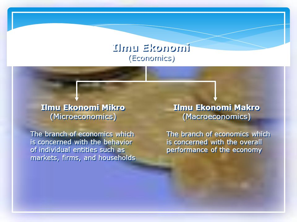 Ilmu Ekonomi (Economics) Ilmu Ekonomi Mikro (Microeconomics)