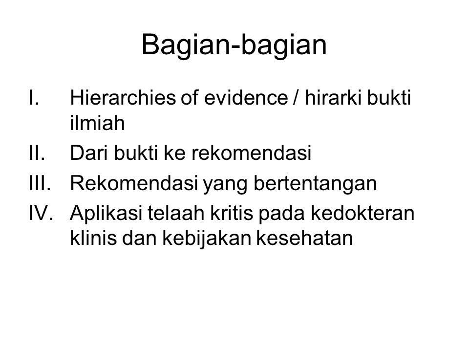 Bagian-bagian Hierarchies of evidence / hirarki bukti ilmiah